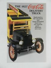 Danbury Mint 1927 COCA-COLA DELIVERY TRUCK Brochure Pamphlet Mailer
