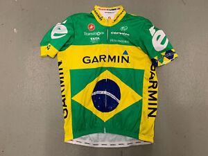 Castelli Cycling Jersey Men 2XL Brazil Flag Logo Green Yellow Short Sleeve