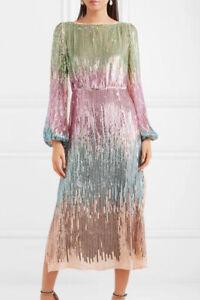 BNWT Rixo London Coco Sequined Rainbow Dress Size XS S M L XL