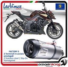 Leovince Factory S 2 Pot D'Echappement approuve KAWASAKI Z1000 /SX 2010>2016