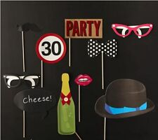 10pcs 30th Birthday Party Photo Booth Props Games Accessories Favours