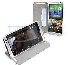 FUNDA SOPORTE CASEBASE de PIEL BLANCA para HTC ONE 2 M8 case flip libro