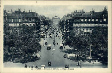 PARIS France CPA ~1910 Verkehr Kreuzung Oper Strasse Autos Carte Postale