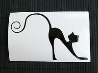 adesivo GATTO NERO gattino wall sticker decal vynil vinile black cat auto moto