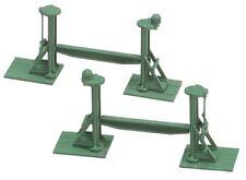Artículos de escala H0 verde de plástico para modelismo ferroviario