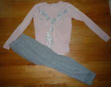 Gap Girls Pajamas 10 Pink & Gray Christmas Reindeer
