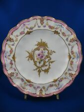 """ROYAL CROWN DERBY PLATE  WITH FLORAL/ GOLD DESIGNS 8"""""""