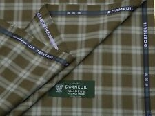 DORMEUIL 'AMADEUS 365 JACKETING' BROWN, CHECK, WOOL SUITING FABRIC 2.5M