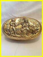 RARE VERY LARGE VICTORIAN SILVER NOVELTY TOBACCO BOX, WALTER RALEIGH,LOND 1884