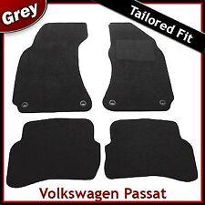 Volkswagen VW Passat B5 Oval Clips 1996-2005 Tailored Carpet Floor Mats GREY