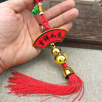 Lucky Chinese Knot Tassel Coin Gourd Pendant Lucky Feng Shui Car Hanging Decor