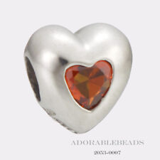 Authentic Littlle Girl's Miss Chamilia Silver Heart July CZ Bead 2053-0007  SALE