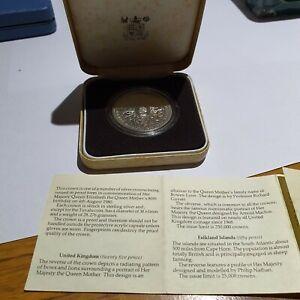 1980 Queen Mother Silver Proof Crown
