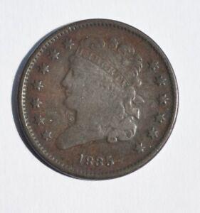 """USA  Half  cent 1835  error? missing letter """"C"""" on HALF  ENT  see"""