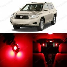 14 x Red LED Interior Lights Package For 2008 - 2013 Toyota Highlander + TOOL