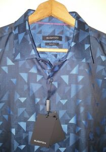 Bugatchi Classic Fit Abstract Woven Shirt Mens XL NWT $149.00