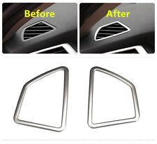 Steel Interior Dashboard Upper air vent cover trim 2pcs For BMW X5 E70 2011-2013