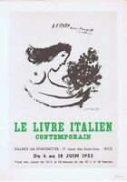 Marc Chagall Le Livre Italien Poster Lithograph 10'' x 14'' 1966 Platesigned