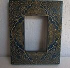 Wooden Hand Carved Hand Painted Picture Photo Frame, Collectible