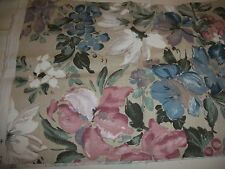 TAPESTRY / UPHOLSTERY  FABRIC 1 PIECE  1/2 YARD MULTICOLOR FLORAL DESIGN NEW