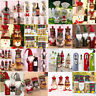 Christmas Santa Wine Bottle Cover Gift Bags Ornaments Xmas Home Party Decor 2020