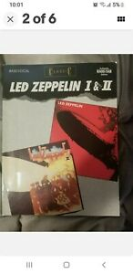 Led Zeppelin 1 + 2 Bass Guitar Drums Vocals Tablature Song Book Rare