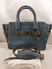 NWT COACH SWAGGER 27 WILLOW FLORAL DARK MINERAL LEATHER 59091