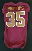 #35 Dashaun Phillips of Redskins NFL Locker Room Game Issued Alternate Jersey