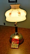 "Coleman Table Lamp - Glass Shade 10"" - Made In The Usa"