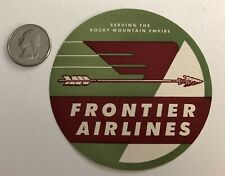 Frontier Airlines Rocky Mountain Vintage Luggage Suitcase Sticker Decal Label