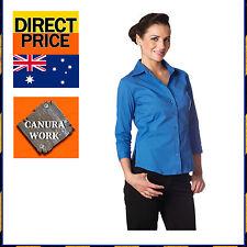 Women's Career Solid Regular Button Down Shirt Tops & Blouses