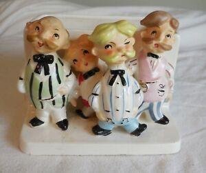 Vintage 1950's Ceramic Barber Shop Quartet Planter/Vase