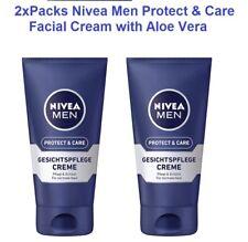 2xPack NIVEA MEN Protect & Care Facial Cream with Aloe Vera (2Tubes)  *GERMANY*