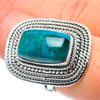 Large Chrysocolla 925 Sterling Silver Ring Size 8 Ana Co Jewelry R57687F