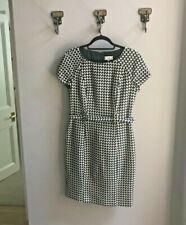 Hoss Intropia Black White Check Dress Size 40