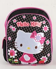 New Hello Kitty Flower 12'' Medium size Girls School Backpack Kids Book Bag