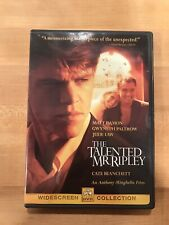 The Talented Mr. Ripley (Dvd, 2000) Matt Damon Gwyneth Paltrow Very Good!