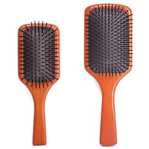 Premium Hair Brush Wooden Paddle Detangler Hair Comb Smooth Sturdy Large / Small