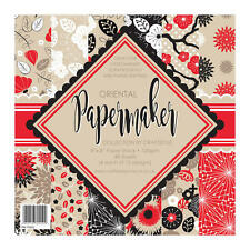 """Pk 12 x 8"""" x 8"""" SAMPLE Paper Stack Oriental papers for cards and crafts"""