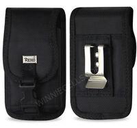 REIKO Rugged Vertical Metal Belt Clip Case Holster w/ Buckle for Samsung Phones
