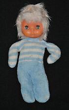 Peluche Doudou Poupée Doll Puppe Bleu BOULGOM Vintage 30 Cm Collectionneur