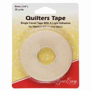 Sew Easy Quilters Tape Single faced  27m x 6mm