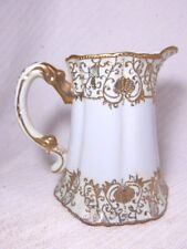 ANTIQUE HAND PAINTED PORCELAIN CHOCOLATE POT PITCHER JAPANESE NIPPON NORITAKE