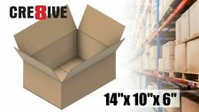 5 Corrugated Boxes 14x10x6 Shipping 32 ECT Packaging Brown Kraft Mailing 10 15