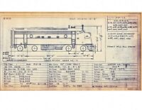 1971 Louisville & Nashville L&N RR Locomotive Roster Mechanical Drawings,
