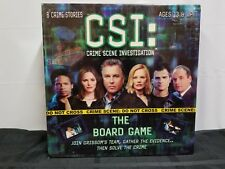 CSI Board Game, Includes Crime Game And Booster Pack #1. NIB.