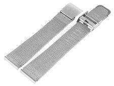 16 mm Meshband Uhren Armband Uhrband Metallband Uhr Band Milanaise Look silber