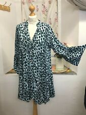 """Made In Italy Beautiful Leopard/ Animal Print Tunic Blouse Dress Up to Bust 48"""""""