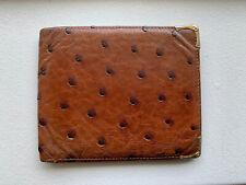 Gucci Men's Ostrich Wallet Bifold Authentic