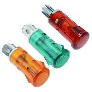 10mm Plastik Indikator Licht 220V - Rot, Grün, Bernstein